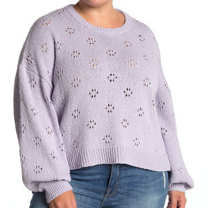 NWT MADEWELL Floral Pointelle Pullover Sweater…